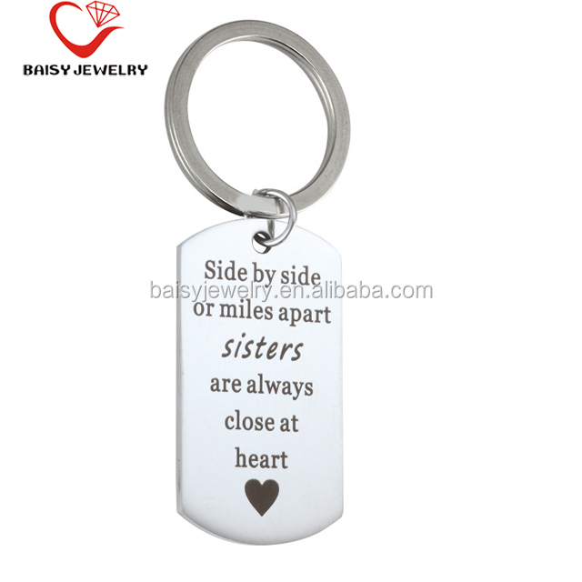 china products custom engraved stainless steel personalized key chains
