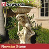 Newstar granite relief sculpture stone flower pot