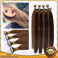 hot sale cheap straight light blonde remy tape hair extension