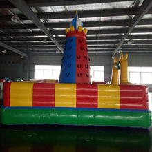 Factory wholesale cheap price kids indoor inflatable toy sports bounce&climb wall