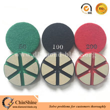 Hot sale 3 inch ceramic bond hybird transitional floor polishing pads