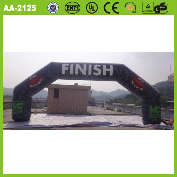 Cheap inflatable advertising finish line arch/archway for sale digital printing