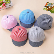 Summer Spring Cotton Baby Hat Cute Casual Striped Soft Eaves Baseball Cap Boy Beret Girls Sun Hats
