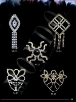 Crystal brooches & jeweleries for clothes