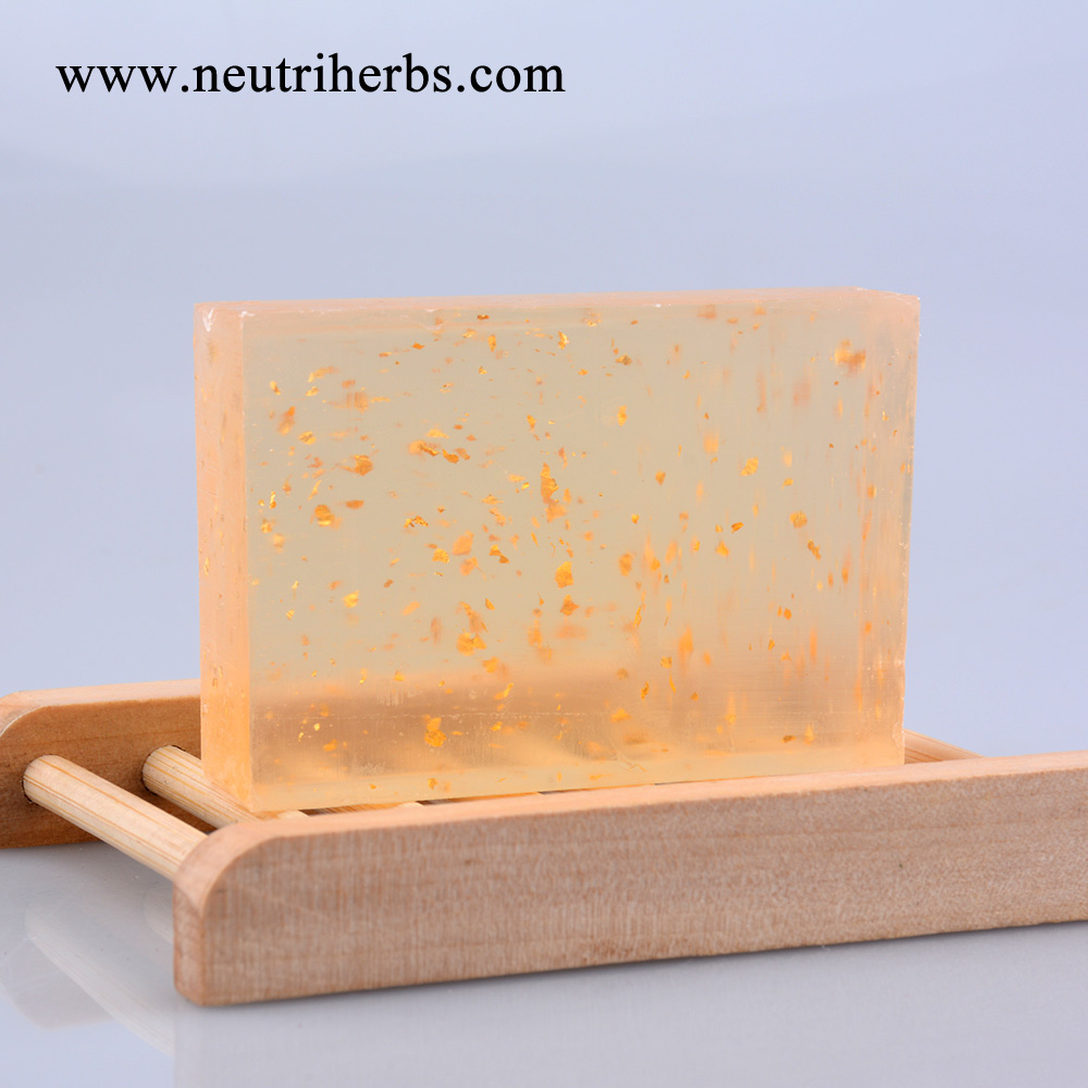Neutriherbs 100% Herbal Deeply Clean Skin Anti Aging And Anti Wrinkle 24K Gold Foil Leaf Soap For Face