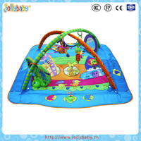Hot Selling Indoor Thicken Game Blanket Toy Baby activity Playmat Gym With Ring Bell