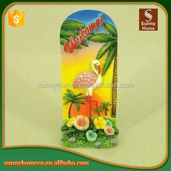 SGS Custom made decorative welcome cheap polyresin refrigerator magnet