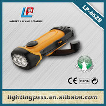 Crank LED dynamo flashlight