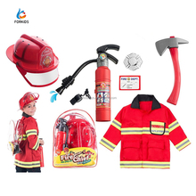 8pcs halloween cosplay costume fireman toy set
