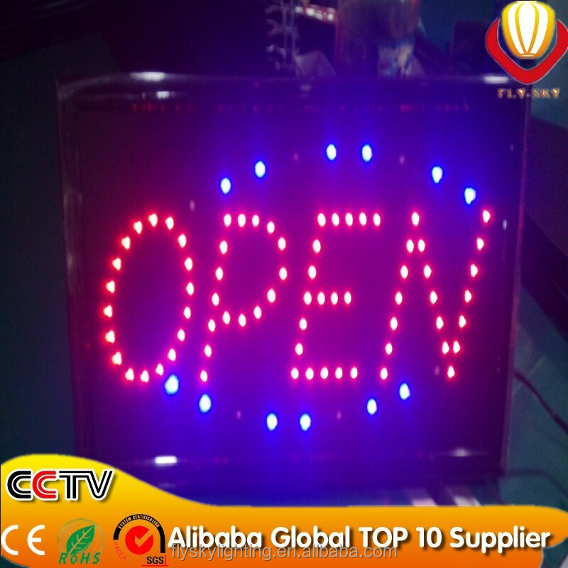 hot sales product running lines motion led open closed sign for store decor