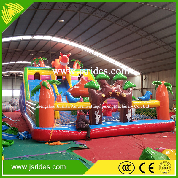 commercial air bouncer inflatable trampoline,balloon inflatable bouncer with slide
