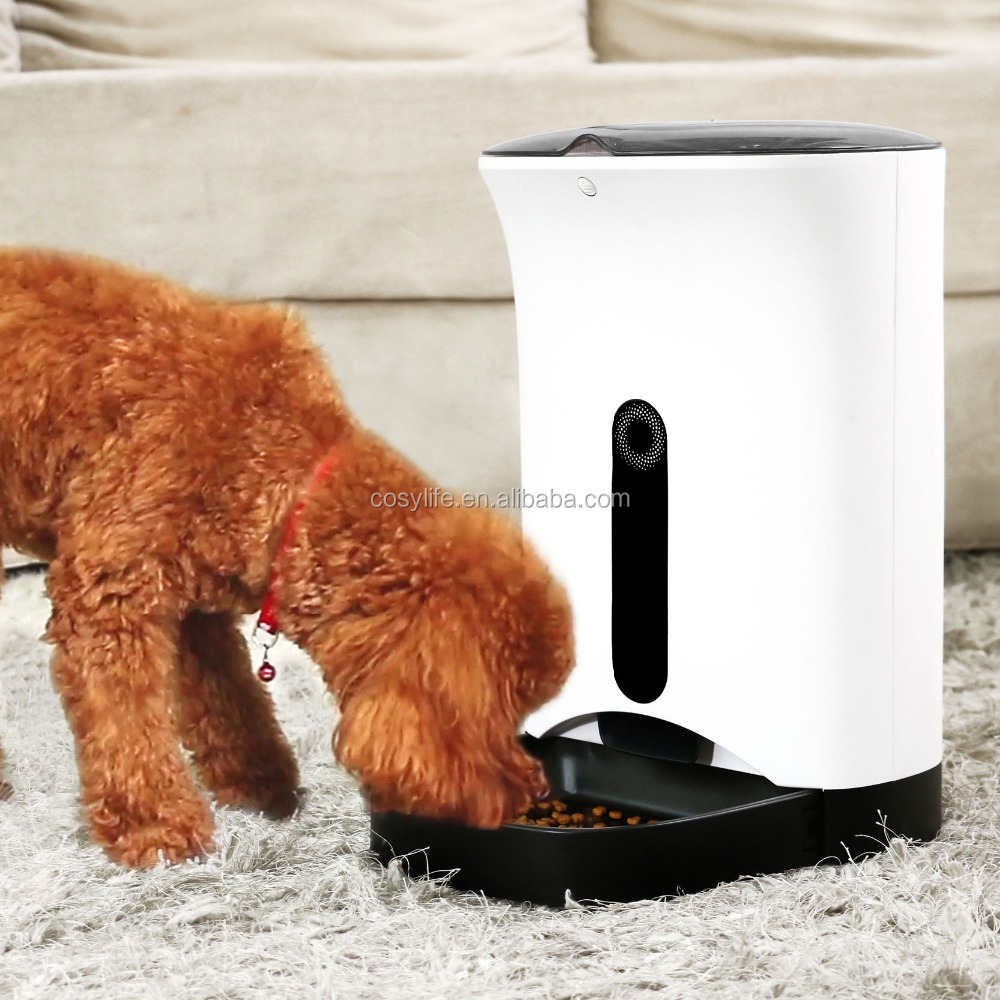battery-powered Automatic Digital Pet Food feeder with time and voice setting function Dog Cat Automatic Food Dispenser for sale