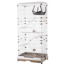Three Layers Indoor Cat Cages with Wheels and Tray Toilet