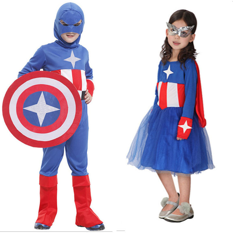buy 3 10y children captain america costume halloween christmas fancy carnival party clothes kids boys girls anime cosplay costume in cheap price on - Christmas Clothes For Kids