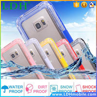 S5/ S4/ S3 Waterproof Cool Transparent Case For Samsung Galaxy S3 /S4 /S5 i9600 Phone Cover Leisure Sports Swimming Candy Capa