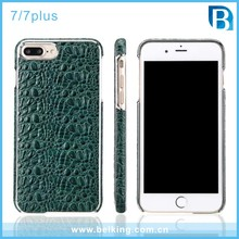 Crocodile Pattern Back Cellphone Genuine Case For iPhone 7 7Plus Real Leather Cases