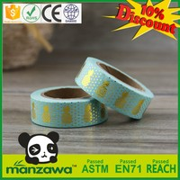 New design blueberry washi tape as gift custom pattens washi tape yellow black caution tape