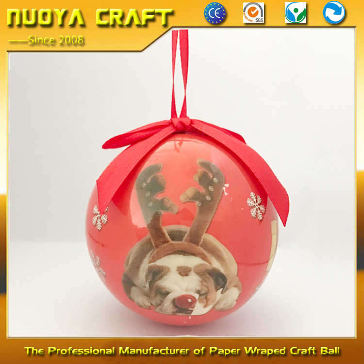 Cute dogs printing christmas ornament wholesale