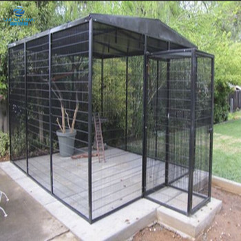 black metal parrot pet enclosure polygon walk in bird aviary cage