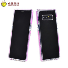 3 in 1 transparent clear tpu+pc silicon case for note 8 bumper case,for samsung note 8 case