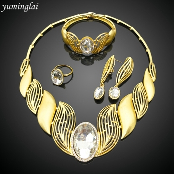 2616 wholesale dubai 24k gold jewelry set