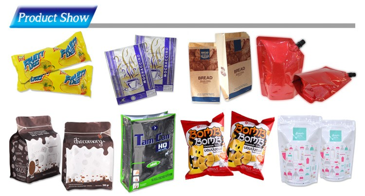 Custom printing blister packaging standing pouch without zip for dried fruit