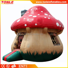 Inflatable Mushroom Jumper/ bounce house/ the mushroom huts inflatable bouncer for smurfs