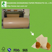 Poly coated brown kraft paper with super smoothness