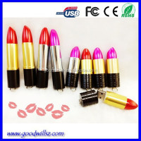 Cheap lipstick usb stick/pen drive accept oem logo,bulk buy from China