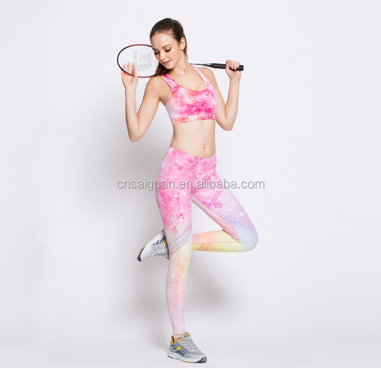 Yoga pants women printted workout gym sportswear pants custom running legging
