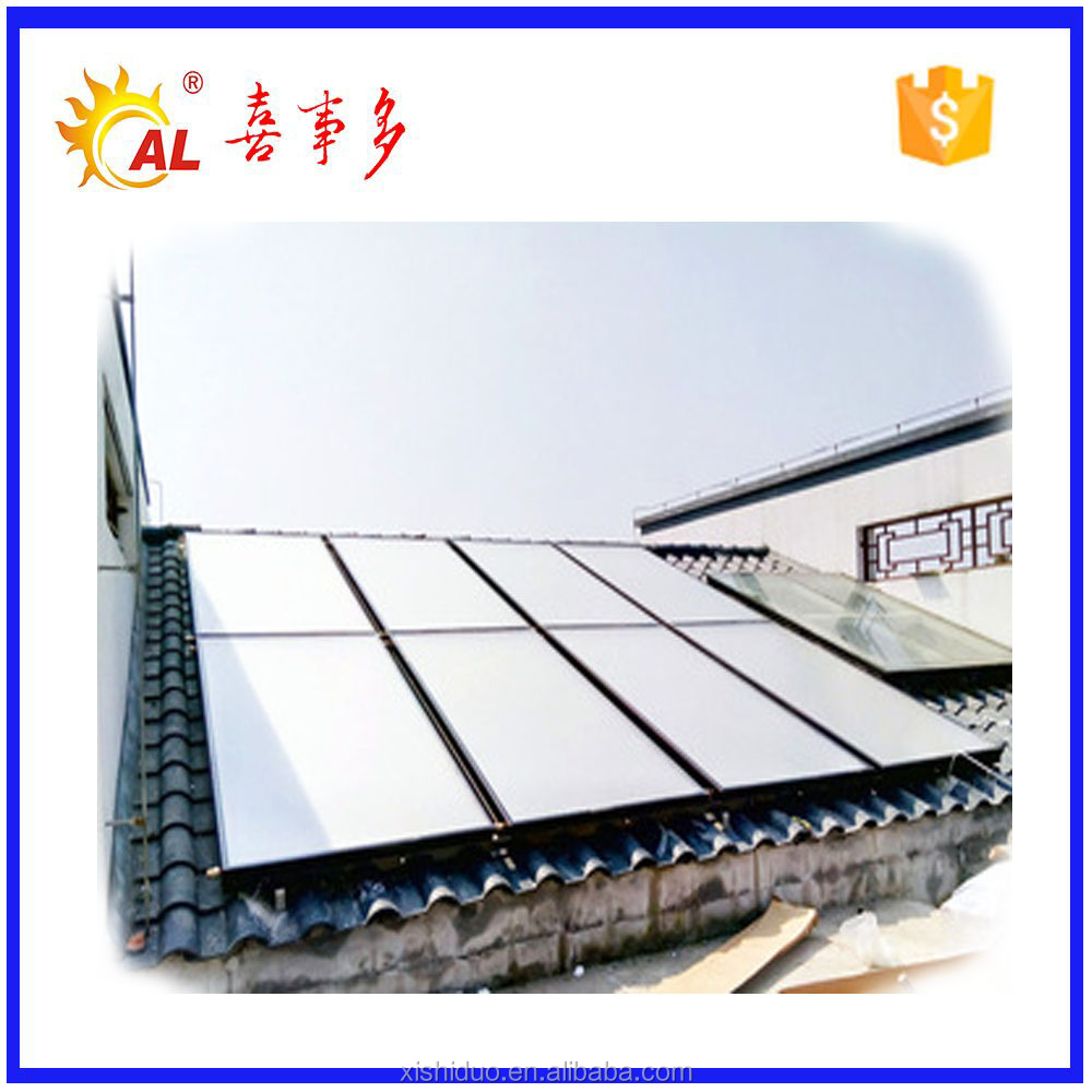 Hot selling 500-1000L large scale solar hot water heater collector for swimming pool
