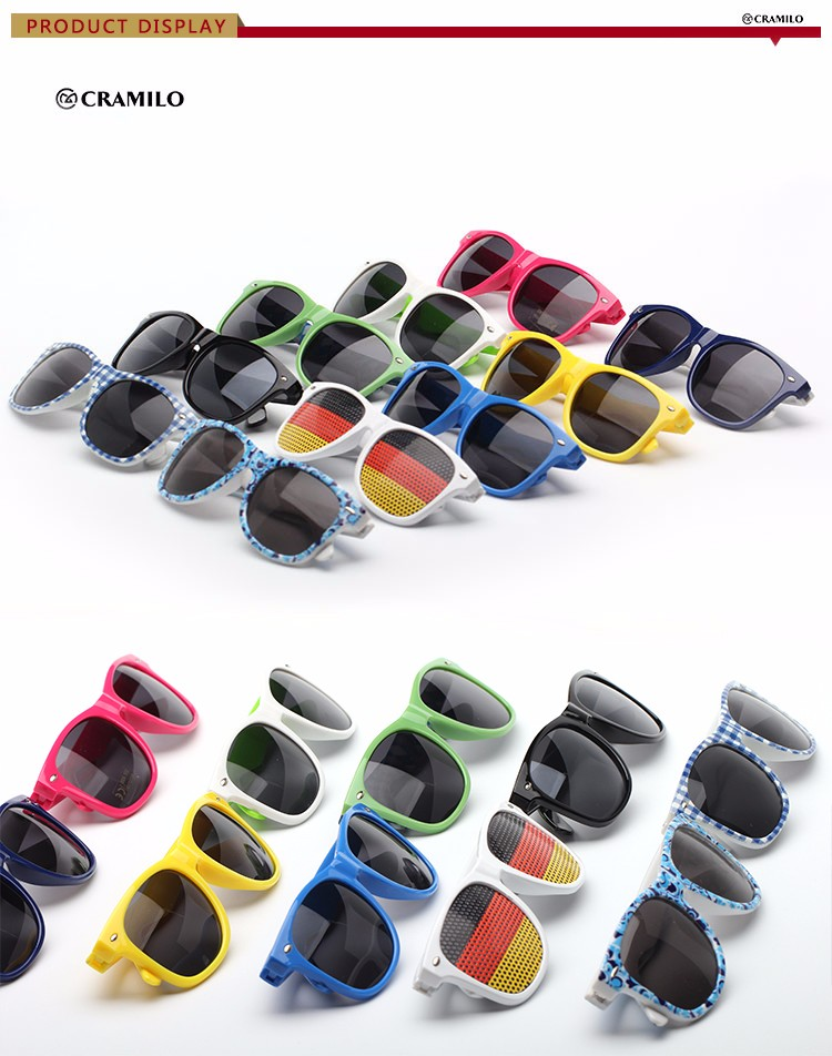 promotional cheap wholesale design your own oem yiwu flag shutter shades cat 3 uv400 sunglasses