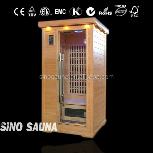 1 person best ozone steam sauna for sale with carbon heater and tourmaline stone
