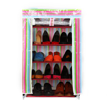 2018 china high quality shoe rack and wardrobe folding non-woven shoes cabinet