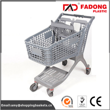 folding push plastic shopping food cart in high capacity