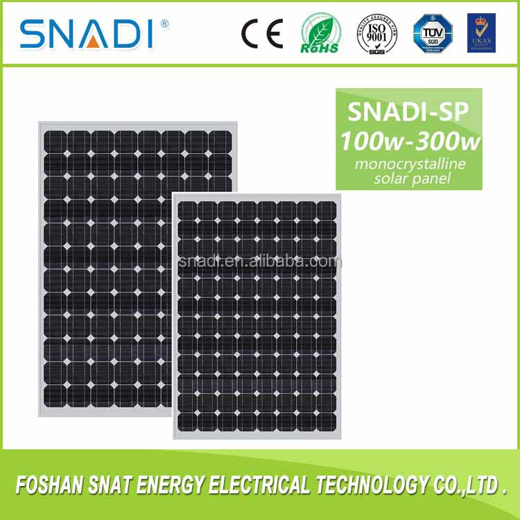 Best Price High Quality Home Use 100 250 watt Mono/Poly Solar Panels Modules for home solar system