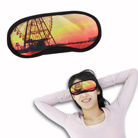 new design adjustable plain satin sleep eye mask