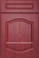 Red Wooden PVC surface Melamine back faced MDF kitchen cabinet door