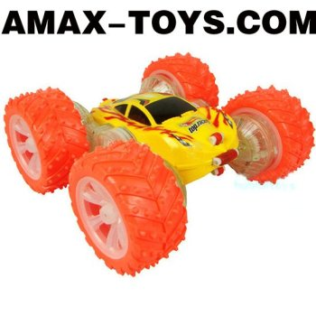 rsc-8193333 stunt rc car Four-wheel Fashionable Two-side Tumbling Stunt Car with Flashing Lights and Energetic Music