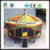 Top sale round trampoline bed with tent for kids play(QX-117C)