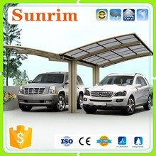 Modern with cantilever roof car shed design car garage aluminium carport