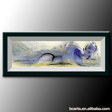 Substantial hand-painted abstract art painting nude woman