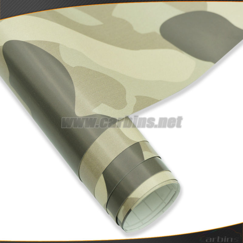 Car camouflage vinyl wrapping roll film , desert camo car changing color sticker 1.52*30m