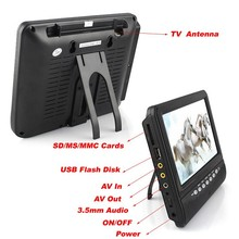 Mini 7 inch 9 inch Portable DVB-T2 / ATSC / ISDB-T Digital TV With DC12V For Europe / American / Asian