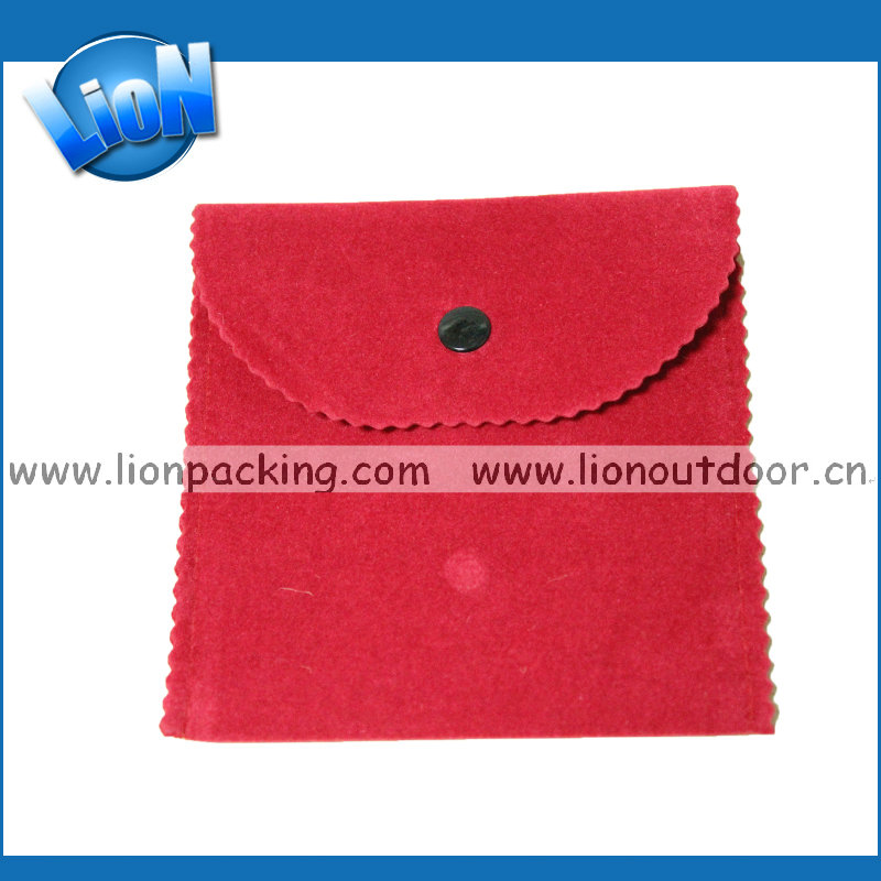 Creative design flap envelope small faux suede pouch gift pouch bag wholesale