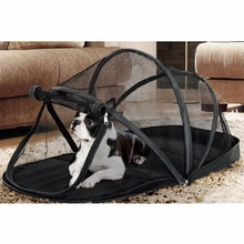 Outdoor Folding Pet Tent House Dog Cat Bed Mesh Dog Cat Playpen Black