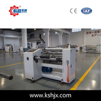 Finished roll plastic packaging film rewinding after slitting Single Shaft Rewinding Machine