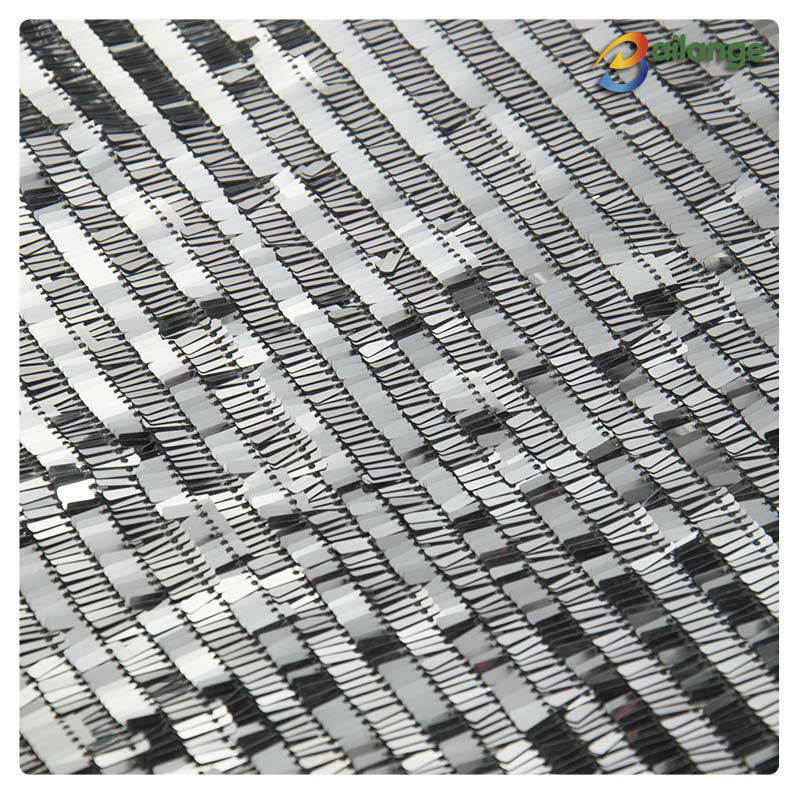 wholesale rectangular silver gold sequin fabric sequin embroidery fabric for women garment