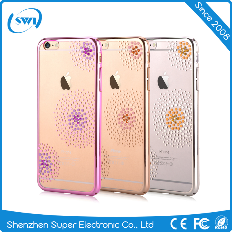 Original Crystal Element Mobile Phone Cases for iPhone 6/6s Plus Crystal Sun Flower PC Case for Girls