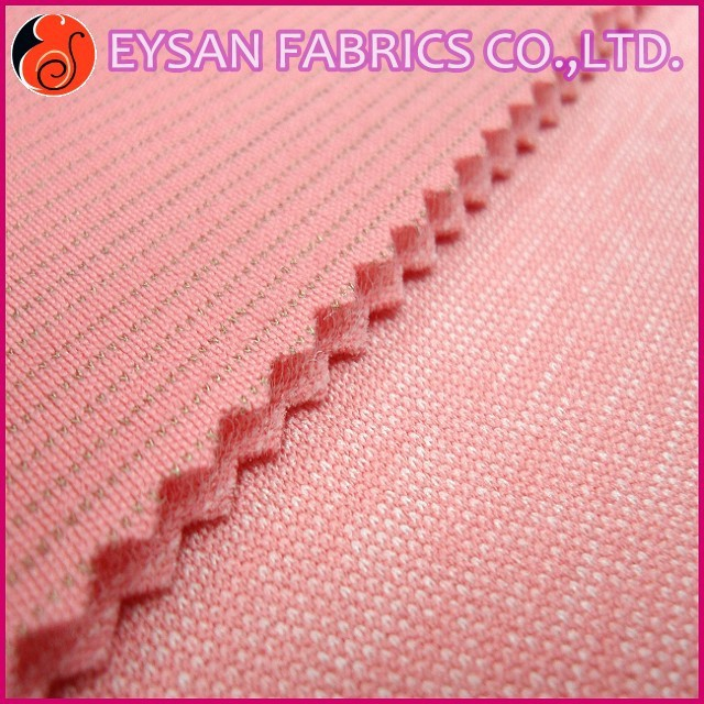 THICK NYLON POLYESTER SPANDEX SILVER FIBER SPACER FOAM